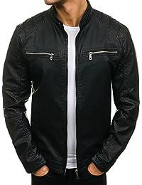 BOLF – Blouson moto – simili cuir – casual – classique – Homme 4D4