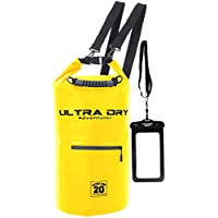 Ultra Dry Premium Waterproof Bag, Sack with phone dry bag, Front Zip Pocket & long adjustable Shoulder Strap Included, Perfect for Kayaking/Boating/Canoeing/Camping/Rafting/Swimming/Fishing