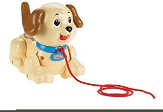 Fisher-Price Brilliant Basics Lil Snoopy Pull Along Toy (Colors May Vary)