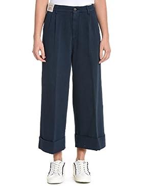 BERWICH Mujer 2021TB001XNAVY Azul Algodon Pantalón