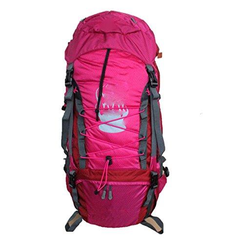 Outdoor Wasserdichte Klettern Reise Camping Multifunktions Rucksack,Rosered Rosered
