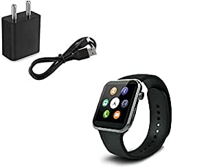 Letv Le 1S COMPATIBLE Bluetooth Certified Smart Watch All 2G, 3G,4G Phone, GT08 Wrist Watch Phone with Camera & SIM Card Support Hot Fashion New Arrival Best Selling Premium Quality Lowest Price with Apps like Facebook, Whatsapp, Read Message or News, Sports, Health, Pedometer, Sedentary Remind & Sleep Monitoring, Better Display, Loud Speaker, Microphone, Touch Screen, Multi-Language, Compatible with Android iOS Mobile Tablet PC iPhone by vell- tech