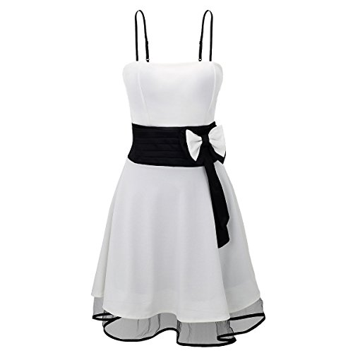 Laeticia Dreams Damen Kleid Petticoat Rockabilly S M L XL Weiß