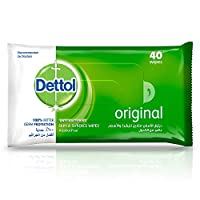 Dettol Original Antibacterial Skin Wipes 40 Count