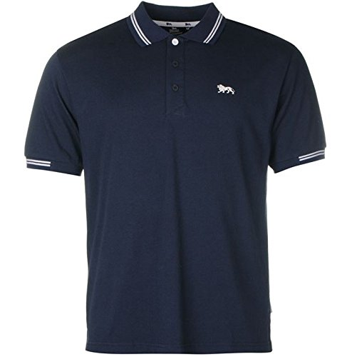 Lonsdale da uomo Classic maglietta Polo camicia, Blu (Blu), S