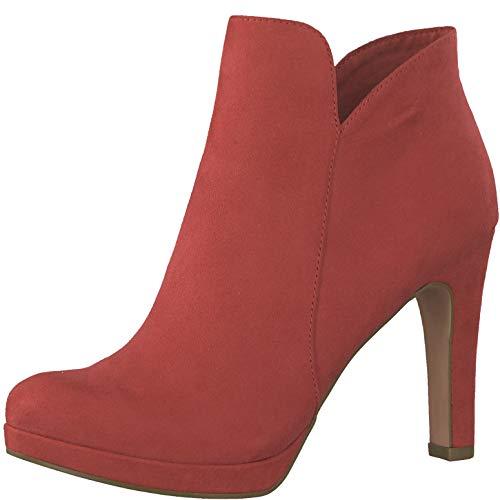 Tamaris 1-1-25316-22 Damen AnkleBoot,Stiefel,Halbstiefel,Bootie,hoher Absatz,sexy,feminin,Touch-IT,Lipstick,38 EU