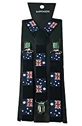 Atyourdoor Y- Back Suspenders for Men(Australian Flag Design)