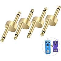 OTraki Conectores tipo Z 4 piezas de cobre puro Acoplador del pedal 2,9 pulgadas Pedales Conector Pedal Guitarra Accesorio Junta
