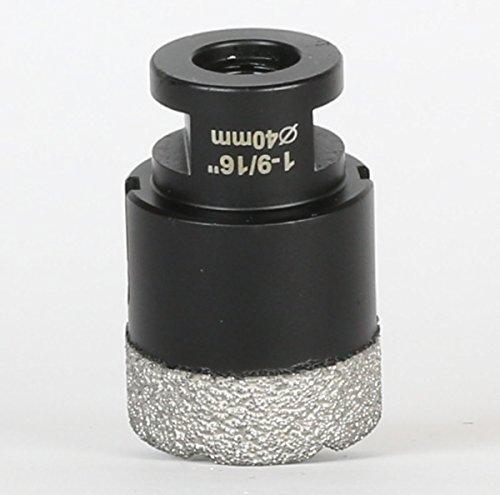Amboss 40 mm Diamant Bohrkrone M14 - BLACK EDITION für Winkelschleifer -Feinsteinzeug, harte Fliesen, Granit/Die ideale Trockenbohrkrone