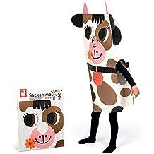 Janod Sackanimo disfraz de vaca en cartón (J02863)