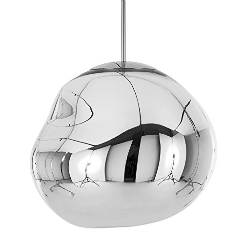 Tom Dixon - Hängeleuchte, Lampe - Melt, Mini Melt - Farbe: Silber Chrome EU - Ø: 27 cm