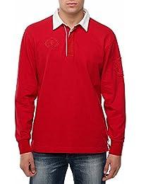 Chemise de rugby pour homme SAVIOR rouge de GEAR Casual Chemise de manches longues