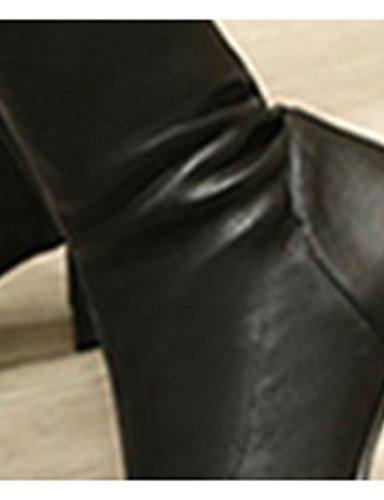 CU@EY Da donna-Stivaletti-Formale-Anfibi-Quadrato-Finta pelle-Nero black-us9 / eu40 / uk7 / cn41