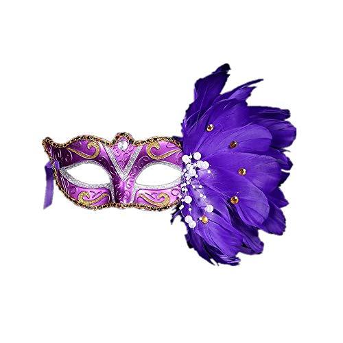 Fliegend Damen Masquerade Maske Federmaske/Halloween Maske/Karneval Maskerade Maske/Venetian Gesichtsmaske/Sexy Augenmaske/Erotik Maske/Maskenball Maske für Weihnachten Party (Prime Erwachsene Für Optimus Halloween-kostüm)
