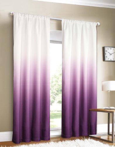 ardinenstangen-Set für 2 Fenster, 102 x 213 cm, Violett ()