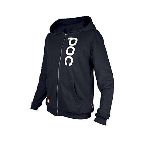 POC Kinder Pullover Race Stuff Zip Hood Jr Uranium Black 140