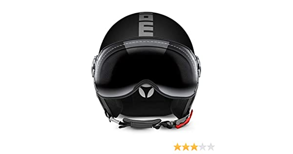 MOMO DESIGN CLASSIC Helmet Matt Black Size XS Silver