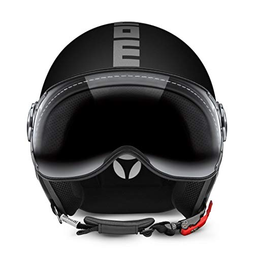 Momo CASCO CLS BLACK MATT/SILVERM
