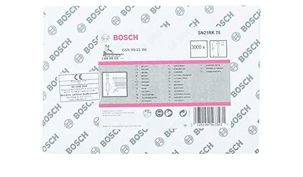Bosch 2608200029 Clous /à t/ête ronde 21/° Lisse 75 mm
