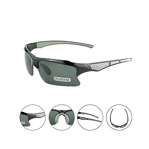 WiaLx Für Männer und Frauen Lightweight Biking Sports Wr Reiten Sandstrahlbrille Sonnenbrille Radfahren Sport Flachbrille Schutzbrille Polarisierte Brille Reitspiegel (Color : Black Gray)