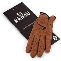 Beaver Golf - Guantes de golf para mujer (cuero cabretta de primera calidad, sostenibles, hechos a mano), color marrón, color marrón, tamaño medium