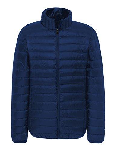 Madhero, piumino termico da uomo per escursioni, campeggio invernale e attività all'aperto, leggero Navy Medium (Hooded Thermal Sleeve Long)