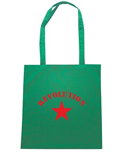 T-Shirtshock - Borsa Shopping T0041 REOLUTION GUERRILLA comunismo politica Verde