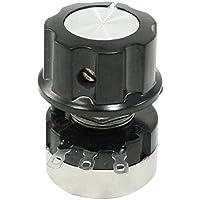 SODIAL(R) RV24YN20S 5K ohmios Potenciometro de cono giratorio de pelicula de carbono de una vuelta con perilla