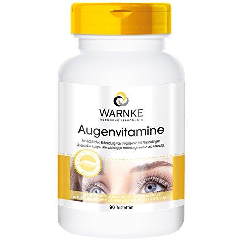 Warnke Gesundheitsprodukte Augenvitamine - reichhaltiges Multi mit Augenvitalstoffen - 90 Tabletten