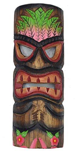 Tiki-Mscara-30-cm-en-Hawaii-Style-pared-Mscara-Mscara-Madera-Isla-de-Pascua