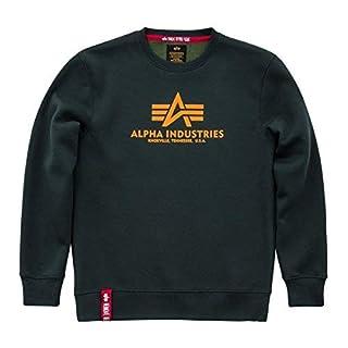 Alpha Industries Basic Sweatshirt Grün/Gelb M