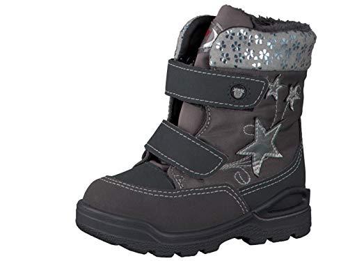 RICOSTA Pepino Mädchen Winterstiefel FINJA, WMS: Weit, wasserfest, Freizeit Winter-Boots Outdoor-Kinderschuhe warm,Grigio/Patina,22 EU / 5.5 UK