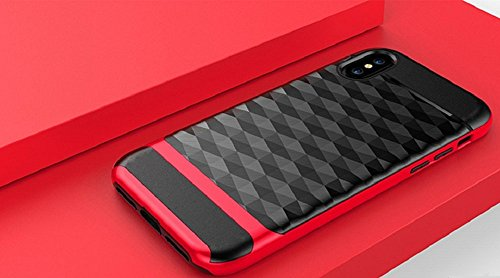 Cover iphone 8 design speciale unico custodia iphone 8 iphone 8 cover iphone 8 case iphone 8 hülle iphone 8 custodia phone case iphone 8 protezione iphone 8 anti-impatto anti-colpo anti-graffi (Nera-R Nera-Rossa