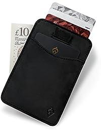 AKIELO Wallet | RFID Blocking Card Holder - Genuine Leather | Minimalist Mens Card Wallet