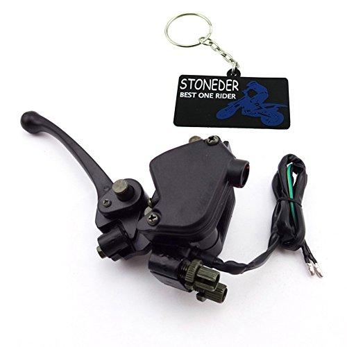 stoneder Daumen Gaszug Accelerator Montage Griff Bremshebel für 50cc 70cc 90cc 110cc 125cc 150cc 250cc chinesische ATV Quad 4Wheeler (Wheeler Gas Vier)