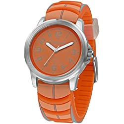 Jacques Farel Neon Jugenduhr orange/grau SBR 282