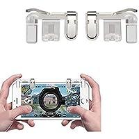 SellnShip Metal PUBG Game Trigger Joystick Compatible with All Smartphones Sensitive Shoot aim Buttons L1 R1 Trigger Mobile Game Controller Transparent (Trigger)