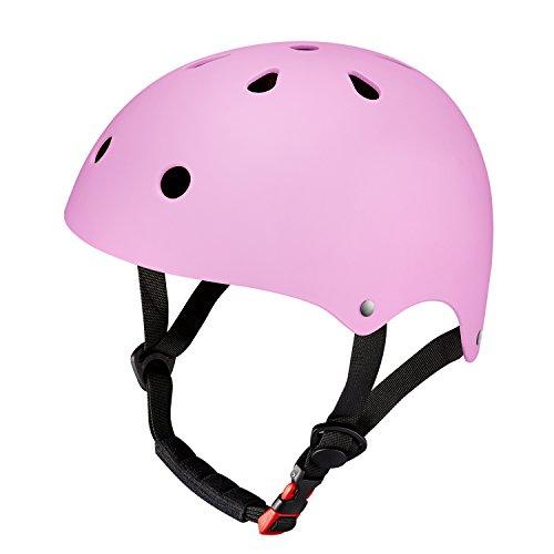 SKL Kinder Skateboarder Helm Fahrradhelm Integralhelm Rollerhelm für Radfahrer Skateboard Scooter Bike Sicherheit Helm