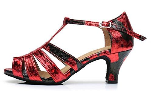 TDA ,  Damen Peep Toes 6cm Heel Red