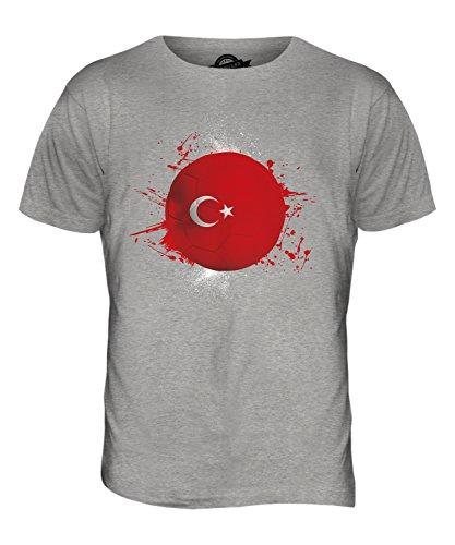CandyMix Türkei Fußball Herren T Shirt Grau Meliert