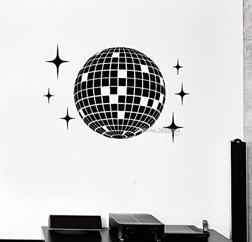 tzxdbh Planet Vinyl Wandtattoo Disco Ball Dance Studio Nachtclub Party Wandbild Wandaufkleber Wohnzimmer Wohnkultur Moderne 64 * 42 cm