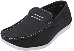 Action Shoes Mens Black Synthetic Leather Casual Shoes 6 UK