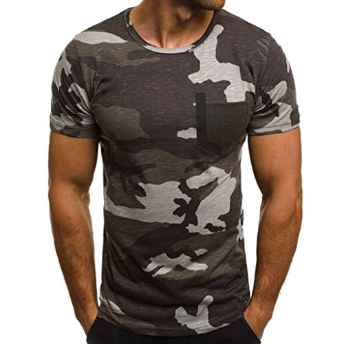 9f110143f DIKEWANG Men s New Summer O-Neck Unisex Casual 13D Camouflage Printing  Elastic Short Sleeve T