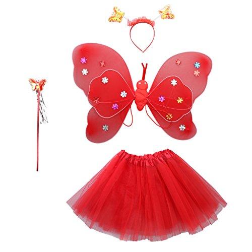 MagiDeal-Ensemble-Papillon-Costume-Tutu-Jupe-Ailes-Bandeaux-Baguette-Magique-pour-Enfant-Fille-Dguisement