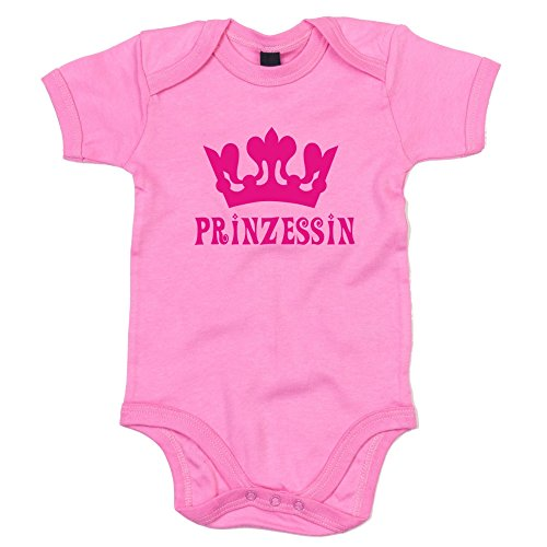 Baby Body - Prinzessin - von SHIRT DEPARTMENT, rosa-fuchsia, 62-68