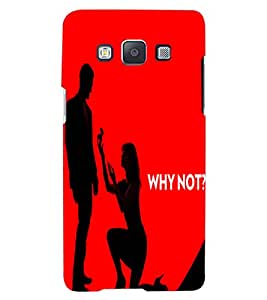 ColourCraft Funny Image Design Back Case Cover for SAMSUNG GALAXY A7