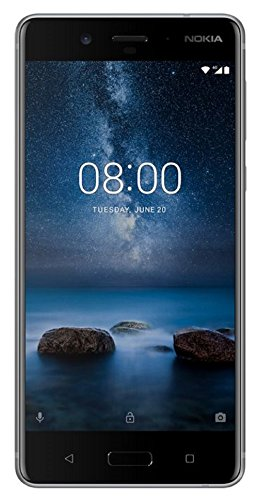 (CERTIFIED REFURBISHED) Nokia 8 (Steel, 64GB)
