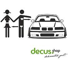 Decus Pegatina para BMW E36 L 1623 Car Love, Estilo JDM