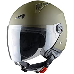 Astone Helmets Mini Jet Army Casco Jet, color Verde (Matt Army), talla M