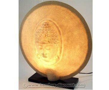bambus-discount.com Tischlampe Buddha aus Kunstharz, Höhe 50cm - Thai Deko Lampe - Asiatische Lampen Stehlampe, Stehleuchte, Tischlampe, Wandleuchte, Deckenlampe, Lampenschirm
